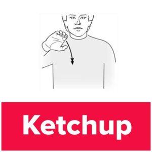 Tecknet för ketchup