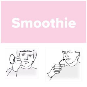 Tecken för smoothie