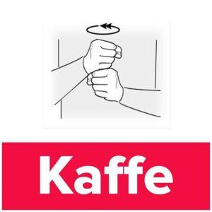 Tecknet för kaffe