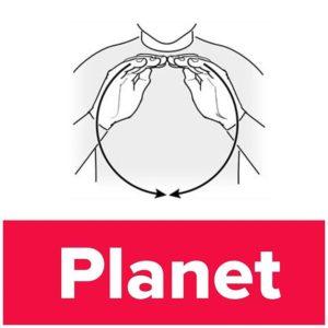 Tecknet för planet