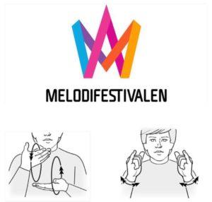 Tecken för melodifestival