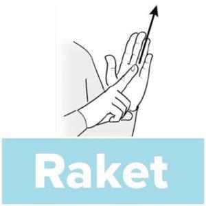 Tecknet för raket