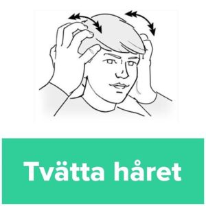 Tecknet för tvätta håret