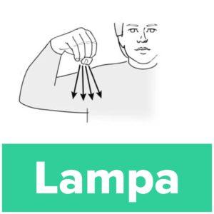 Tecknet för lampa