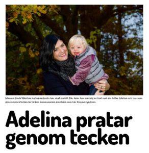 Barnmässan_Adelina pratar genom tecken