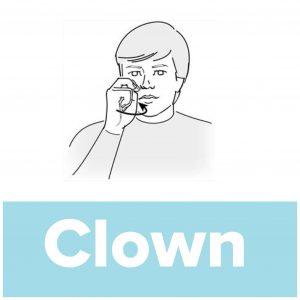 Tecknet för clown