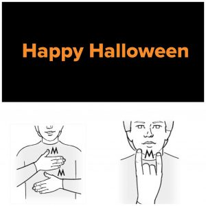 Tecknet för Happy Halloween