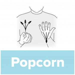 Tecknet för popcorn