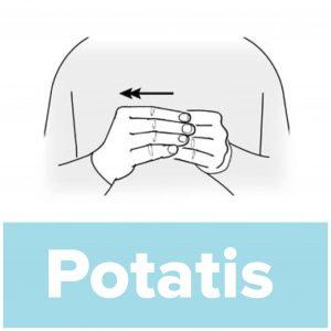 Tecknet för potatis