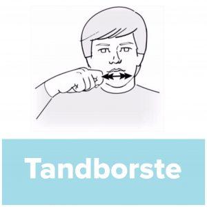 Tecknet för tandborste